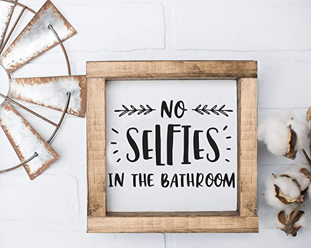 Amazon No Selfies Funny Bathroom Sign