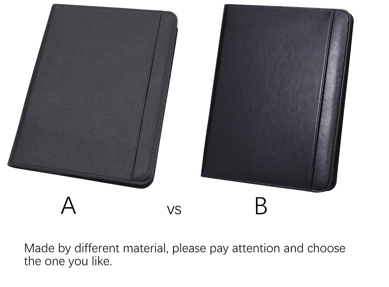 A4 Leather Conference Folder Portfolio Leather Document Holder ...