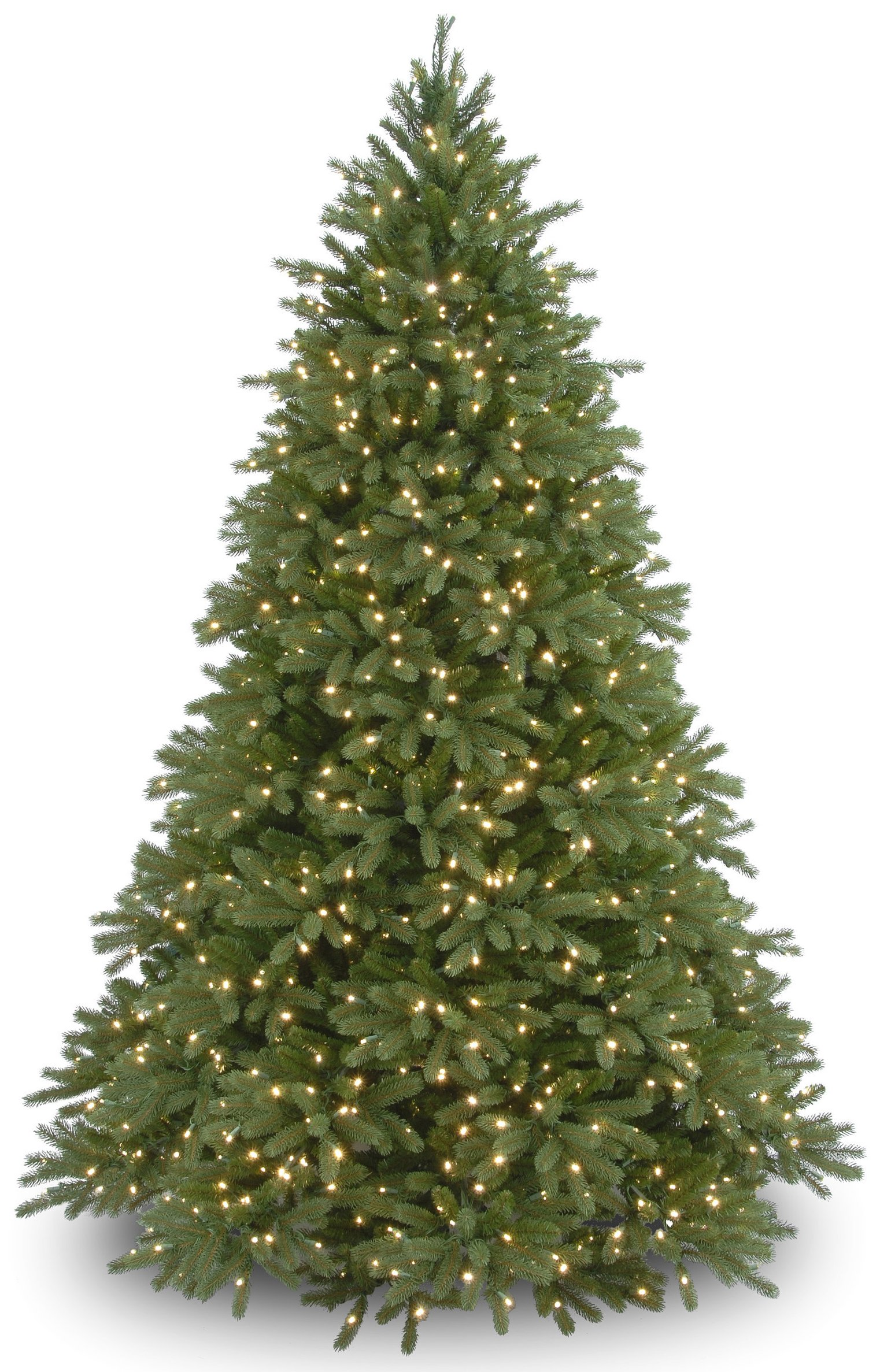 National Tree 9 Foot ''Feel Real'' Jersey Fraser Medium Fir Tree with 1500 Clear Lights, Hinged (PEJF1-300-90)
