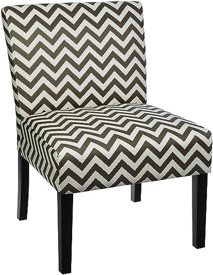 Surprising Red Hook Martina Contemporary Upholstered Armless Accent Chair Grey Chevron Inzonedesignstudio Interior Chair Design Inzonedesignstudiocom