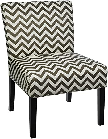 Incredible Red Hook Martina Contemporary Upholstered Armless Accent Chair Grey Chevron Ocoug Best Dining Table And Chair Ideas Images Ocougorg