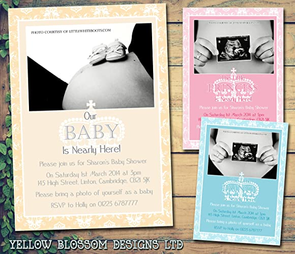Personalised baby shower invitations printed invites boy girl twins personalised baby shower invitations printed invites boy girl twins unisex pregnancy party gender announcement 5 10 filmwisefo