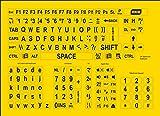 Large print keyboard stickers - black on yellow