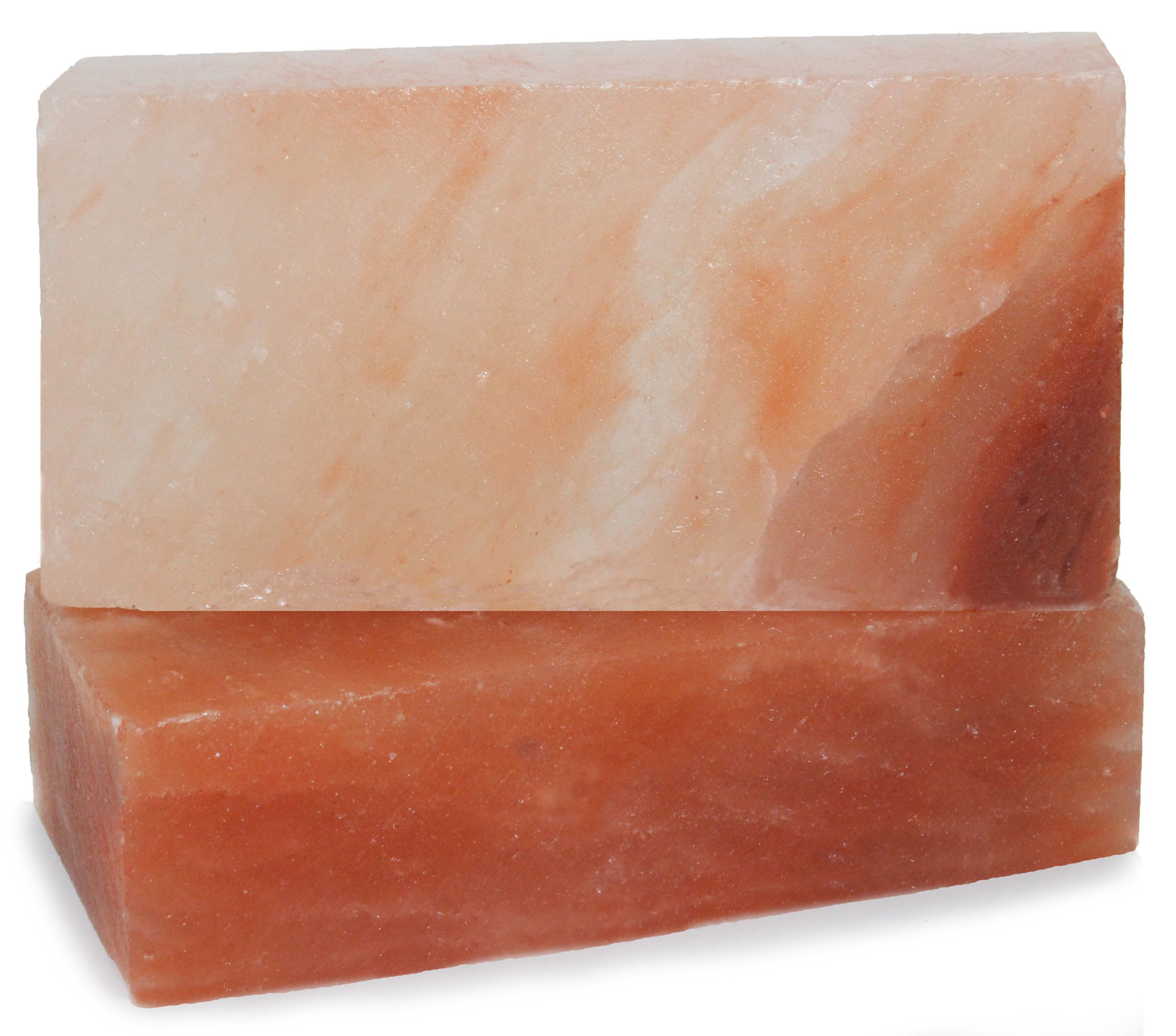 IndusClassic RSP-17 Himalayan Salt Block, Plate, Slab for Cooking, Grilling, Seasoning, And Serving (8 X 4 X 2 Set Of 2) by Indus Classic