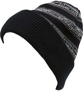 52e1812db57 Sakkas Cabbey Mid Weight Striped Multi Colored Ribbed Knit Unisex Beanie Hat