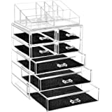 Design Brand Cosmetic Organiser & Makeup Accessories Storage, Large Two Tier Stackable, 7 Drawers, Cosmetics, Jewelry, Perfume