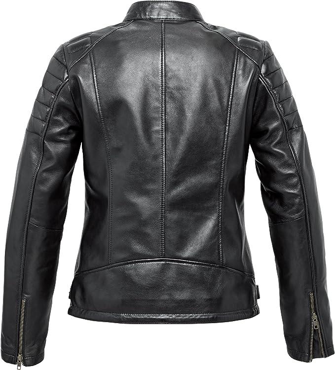 Spirit Motors Motorradjacke Mit Protektoren Motorrad Jacke Damen Soft Leder Jacke 3 0 Schwarz Xl Chopper Cruiser Ganzjährig Bekleidung