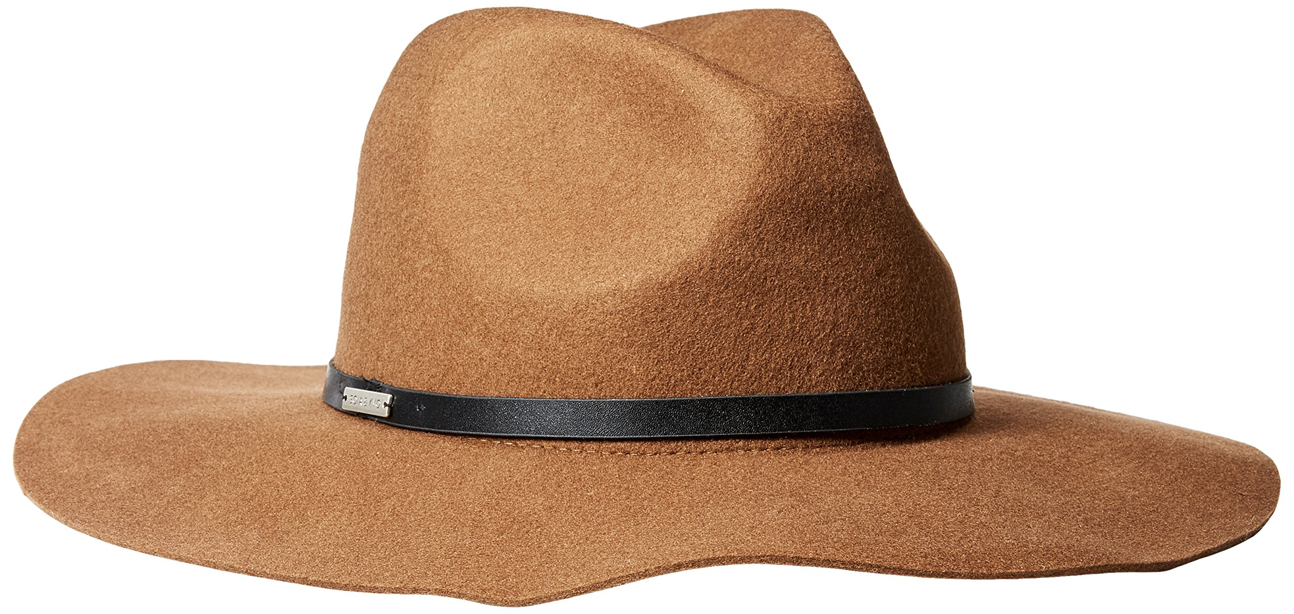 Soia & Kyo Women's Franca Felt Fedora With Leather Trim, Russet, Medium/Large by Soia & Kyo