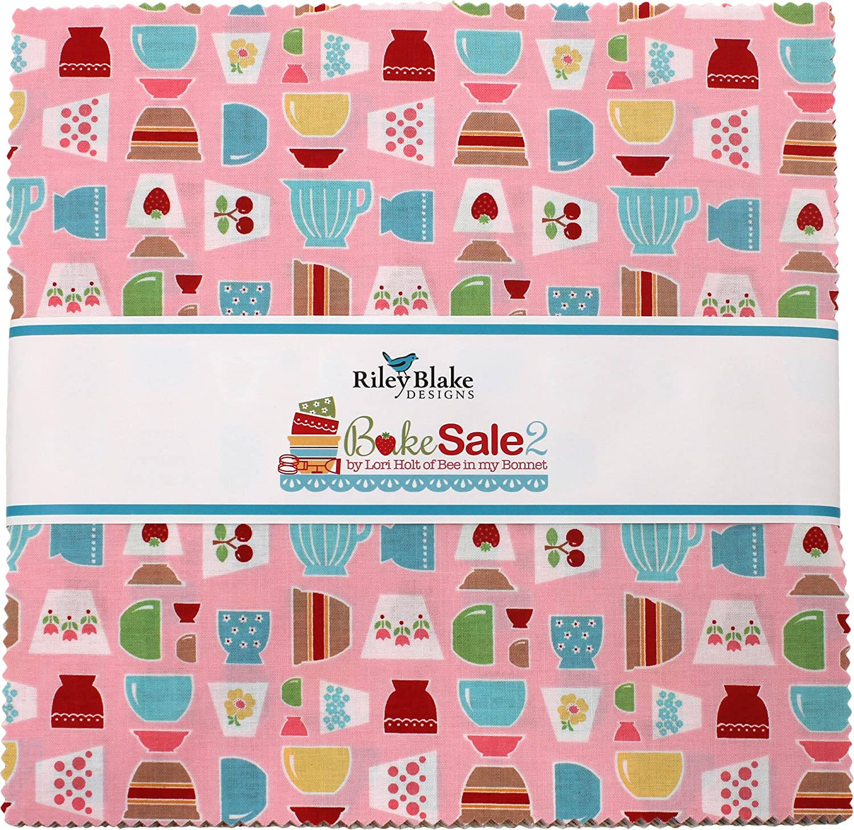 Lori Holt Bake Sale 2 10 Stacker 42 10-inch Squares Layer Cake Riley Blake Fabrics 10-6980-42