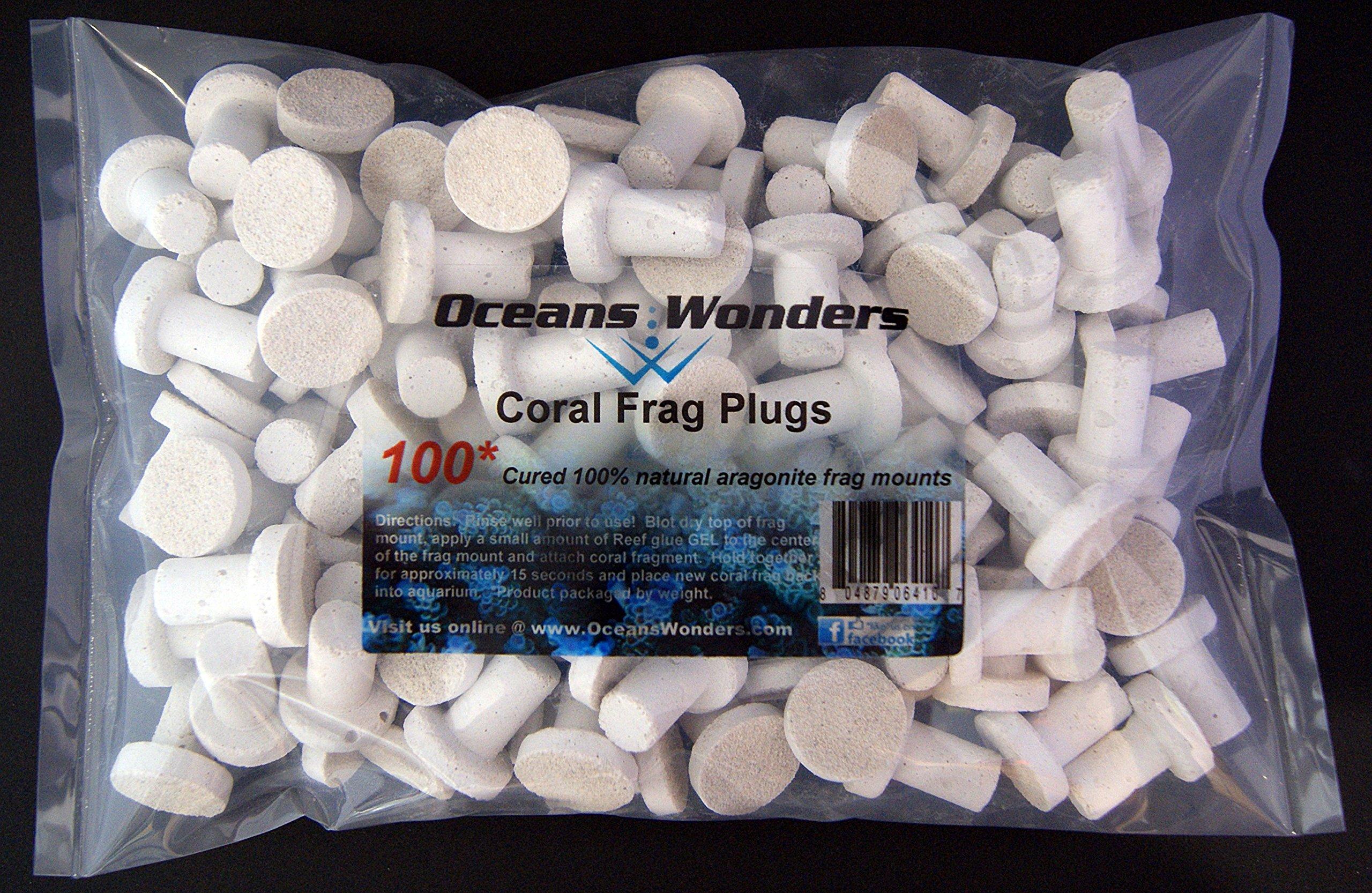 Oceans Wonders Coral Frag Plugs 100pc by Oceans Wonders