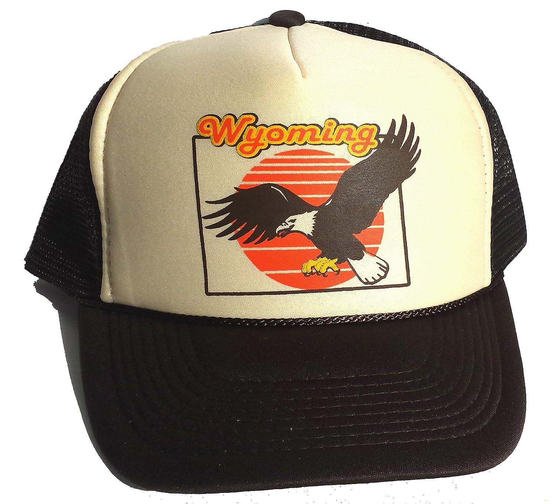 Amazon.com: Wyoming Eagle malla gorra snapback, color café ...