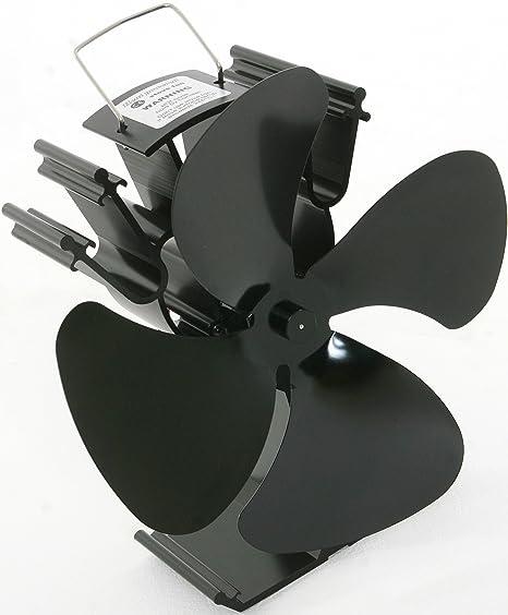 Zevek Ventilador para estufa con 4 aspas, 50% más eficacia que los ventiladores de