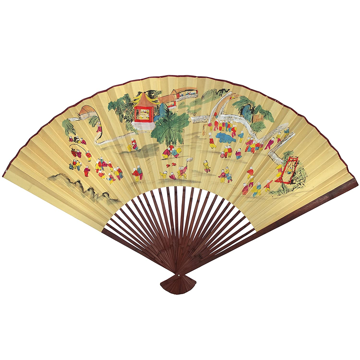 Amazon.com: Oriental Furniture Golden Wall Fan #4 - (Size: 60\