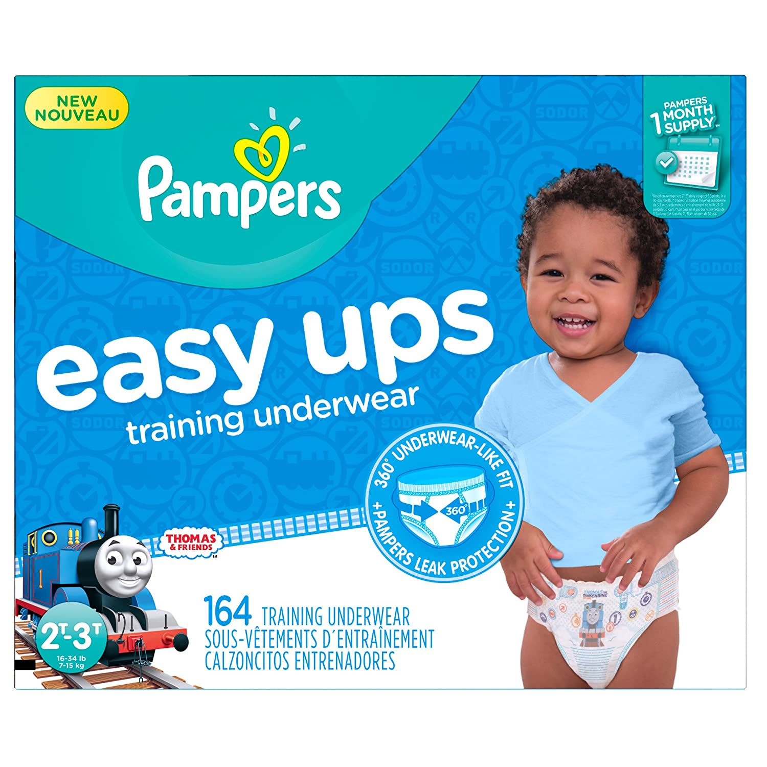 aa7c6d1f073 Amazon.com  Pampers Easy Ups Training Pants Pull On Disposable Diapers for  Boys Size 4 (2T-3T)
