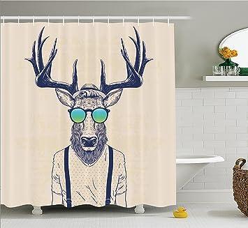 Deer and antler bathroom decor