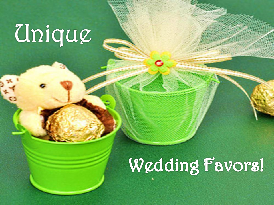 Unique wedding favors to commemorate the most special day of your life!