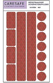Aufkleber f/ür Kinder Reflektoren selbstklebend 13 teiliges Reflektor Set selbstklebend und hochreflektierend,3er Set Kinderwagen