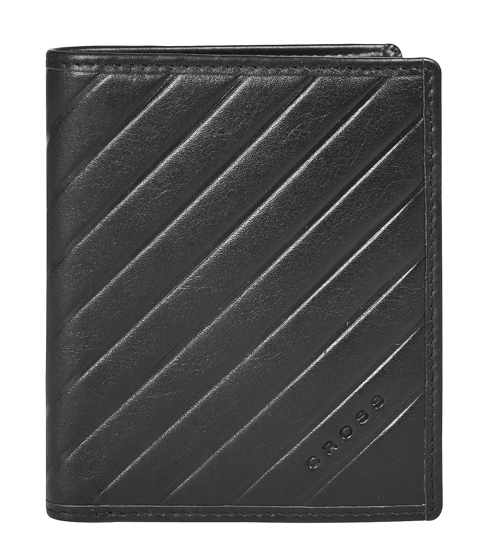 Cross Men's Black Slim Genuine Leather ID Credit Card Holder Bifold Wallet Torero Corporation Pvt Ltd AC028008-1