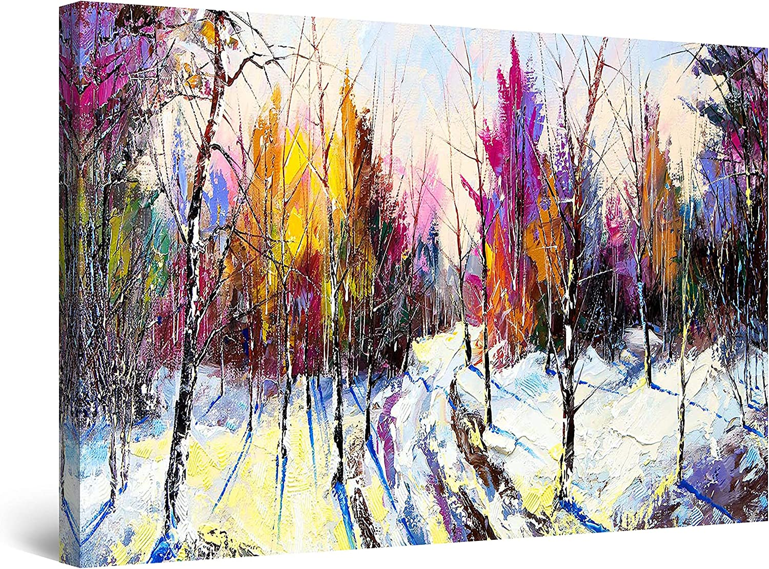 Startonight Canvas Wall Limited time sale Art Abstract Purple Trees Large Colored Popular overseas