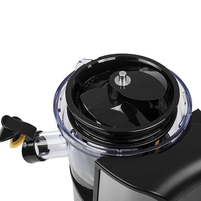 Princess 202046 - Exprimidor lento, 200 W, color negro/acero inoxidable: Amazon.es: Hogar