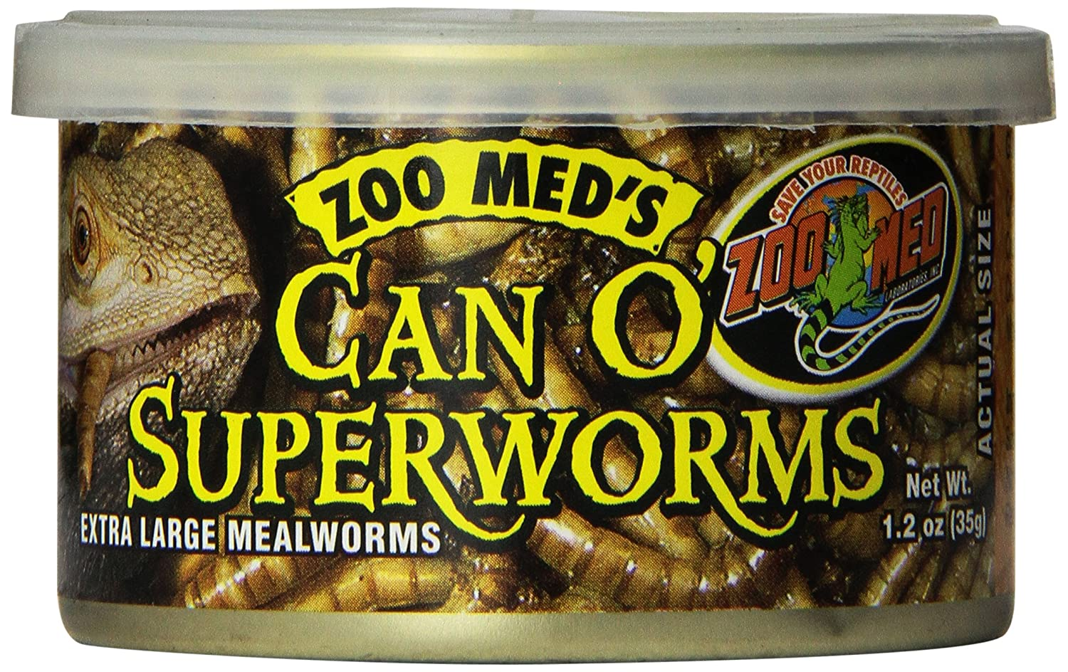 Zoo Med Can O' Super Worms, 1.2-Ounce ZM146