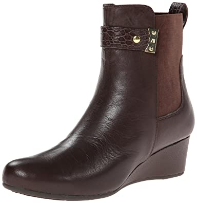 Rockport Women's Total Motion Gore Pull On Boot w/ Croc Strap Coach Leather  Boot 7