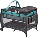 Safety 1st Prelude Play Yard, Built in Full Size Bassinet, Easy to Move and Carry, Marina