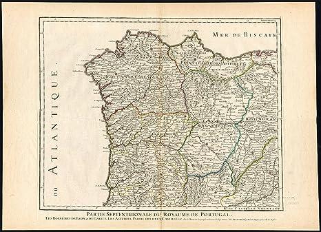 2 - de mapa de Europa con diseño de madera envejecida portugal-gibraltar- españa-ibérico península-Marruecos-Jaillot-1781: Amazon.es: Hogar