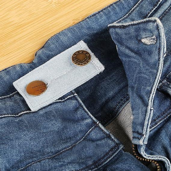 Naler 6 extensores de botones, gancho para la cintura para pantalones vaqueros y camisas