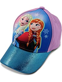 bb0e90141b3 Disney Little Girls Frozen Anna and Elsa 3D Pop Baseball Cap