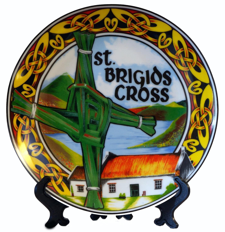 St. Brigid Ceramic Plate 20cm Island turf crafts