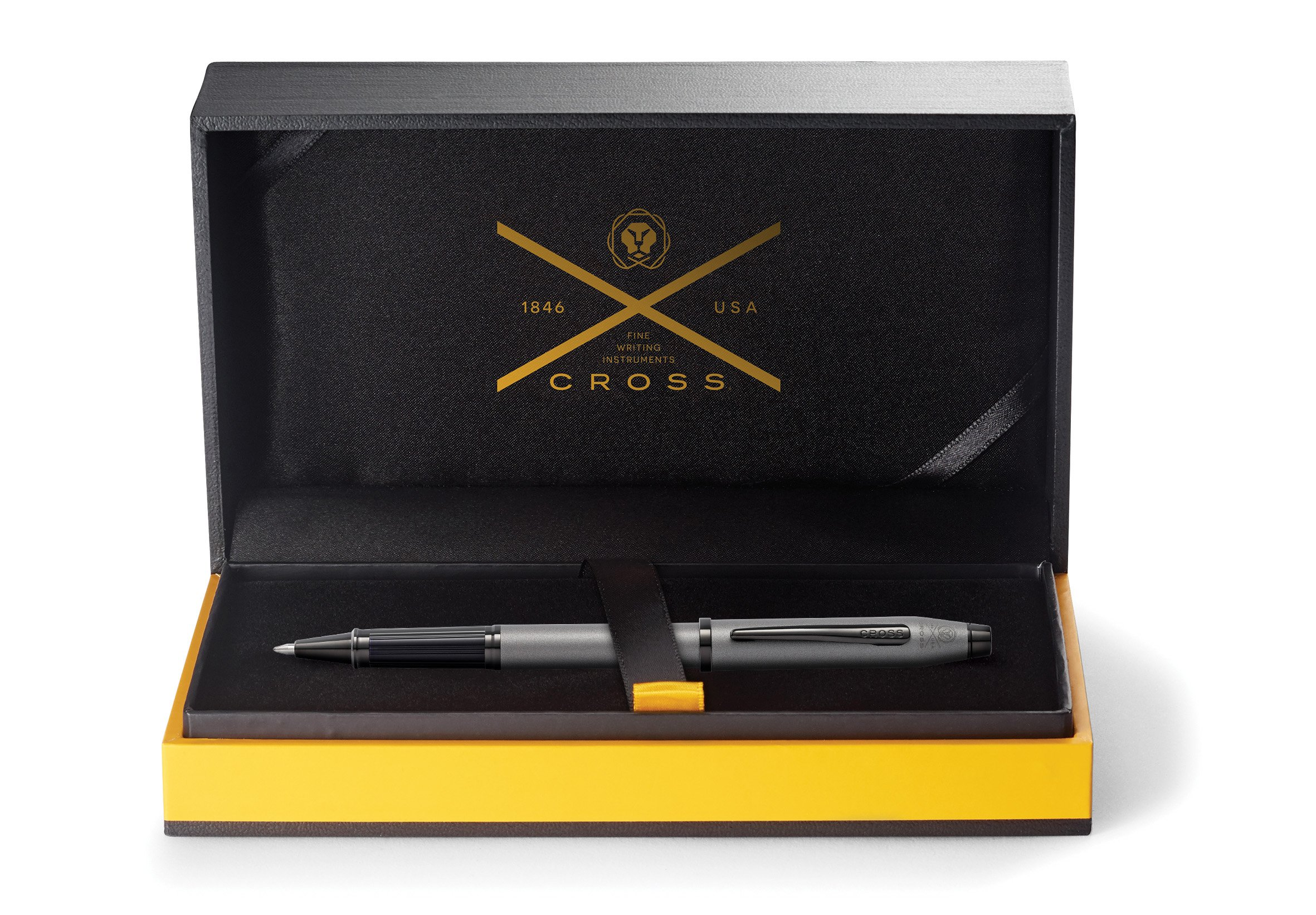 Cross Century II Gunmetal Gray Rollerball Pen with Polished Black PVD Appointments by Cross (Image #1)