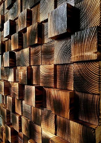 Wall Mosaic Reclaimed Wood Wall Art Wooden Wall Decor Modern Wood Art Wall Hanging Wood Mosaic Wooden Wall Sculpture Home Gift