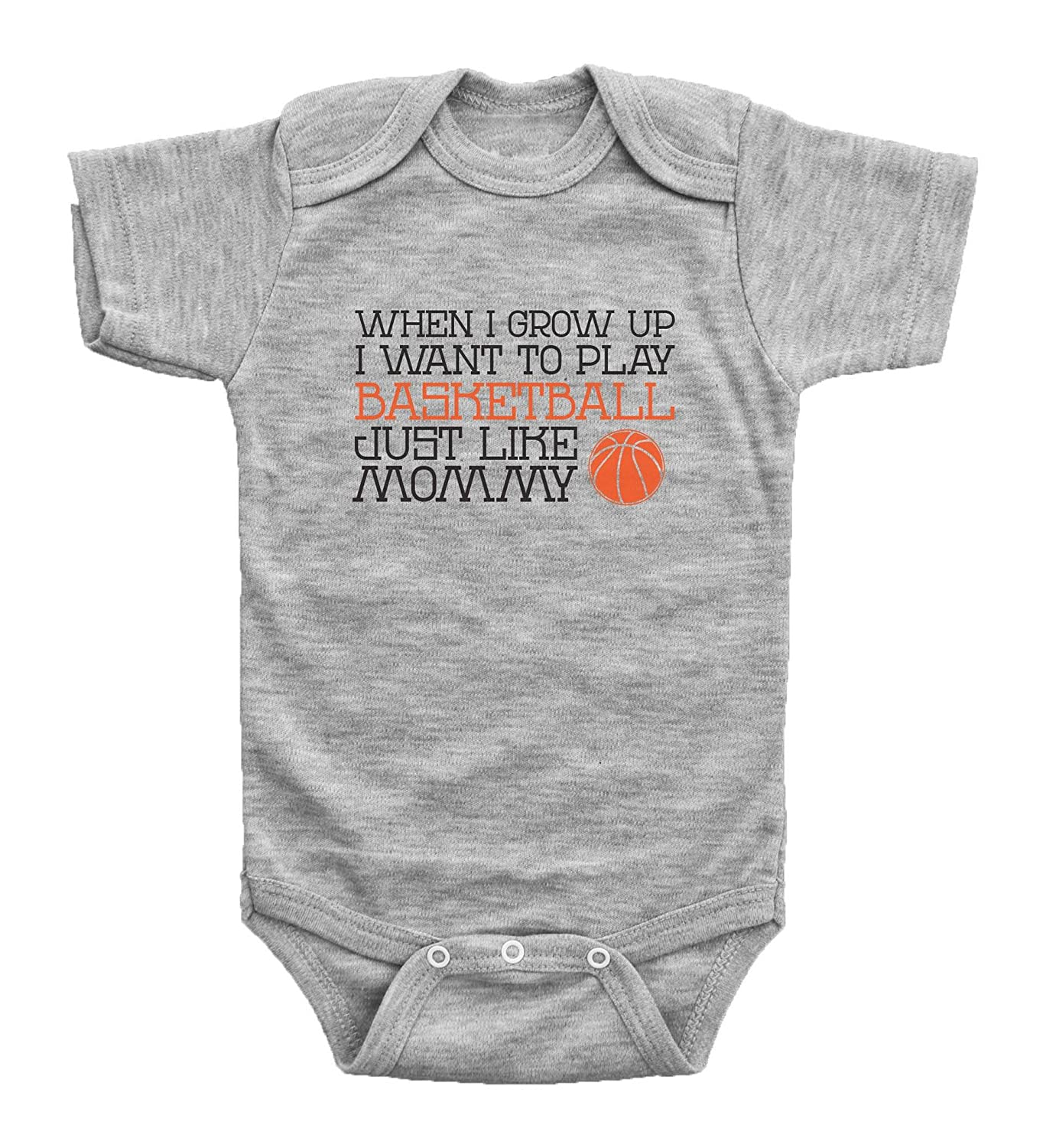 0d3e3b42 Amazon.com: InkCallies Play Basketball Like Mommy, Funny Basketball  Bodysuit for Kids, Cute Newborn Outfits for Sports Fans, Shower Gift:  Clothing
