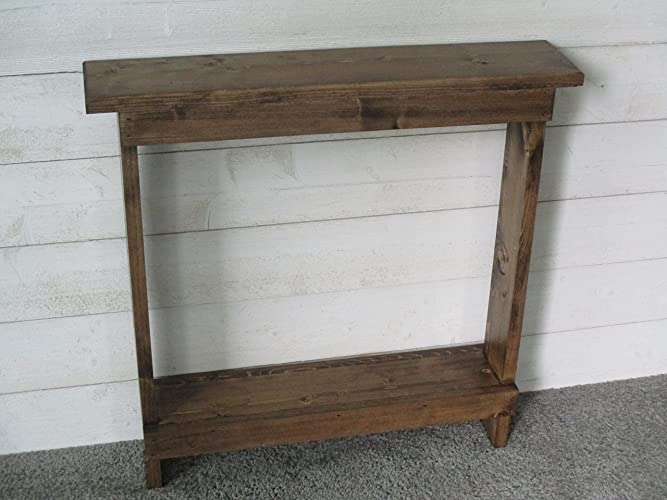 Attirant Small Accent Table, Skinny Side Table, Narrow End Table,Entryway Table, Wood