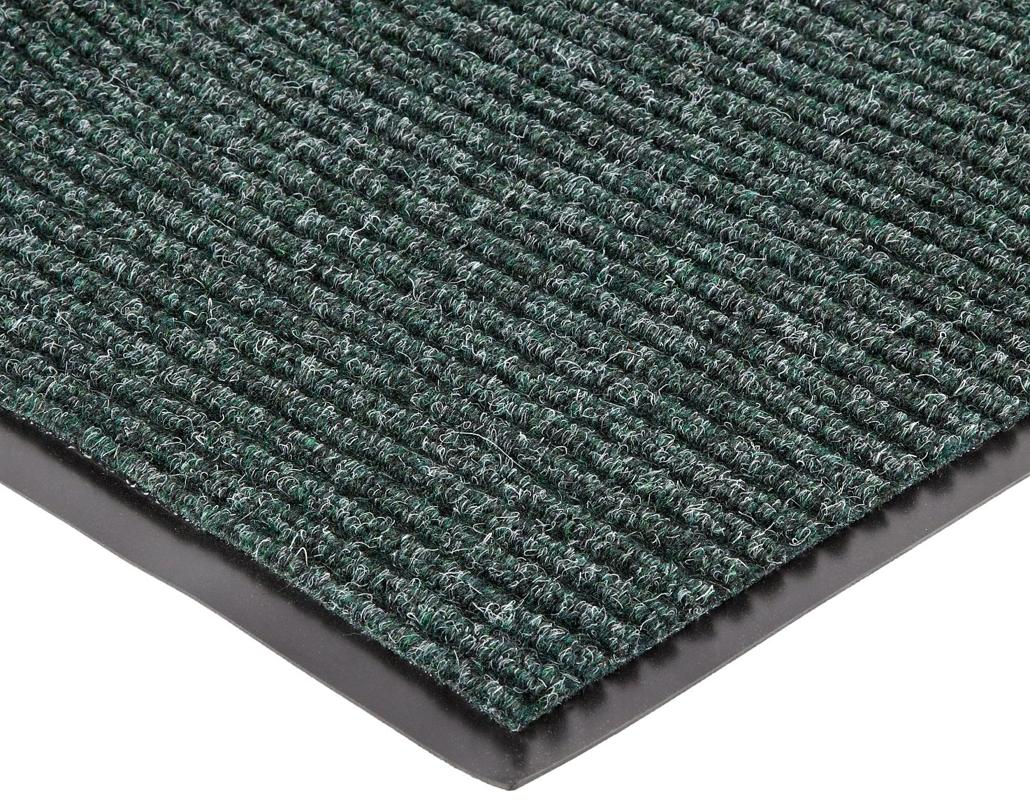 NoTrax 117 Heritage Rib Entrance Mat, for Lobbies and Indoor Entranceways, 3' Width x 10' Length x 3/8'' Thickness, Hunter Green