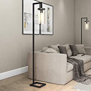 Henn&Hart FL0014 Modern Farmhouse seeded Task Lamp One Size Black