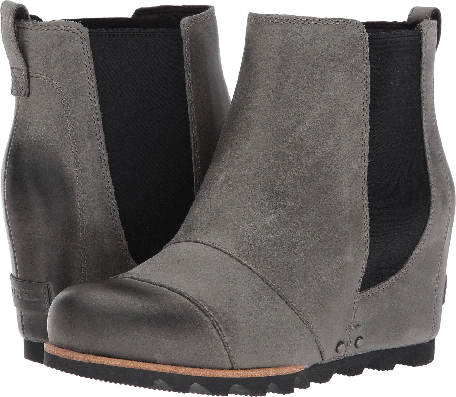 Sorel Women's Lea Wedge Booties (8 B(M) US, Dark Grey/Black)