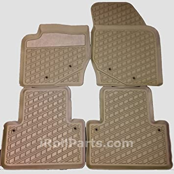 Genuine Volvo 2003 2014 Xc90 Mocca Brown Rubber Mats 31307314 Set Of 4