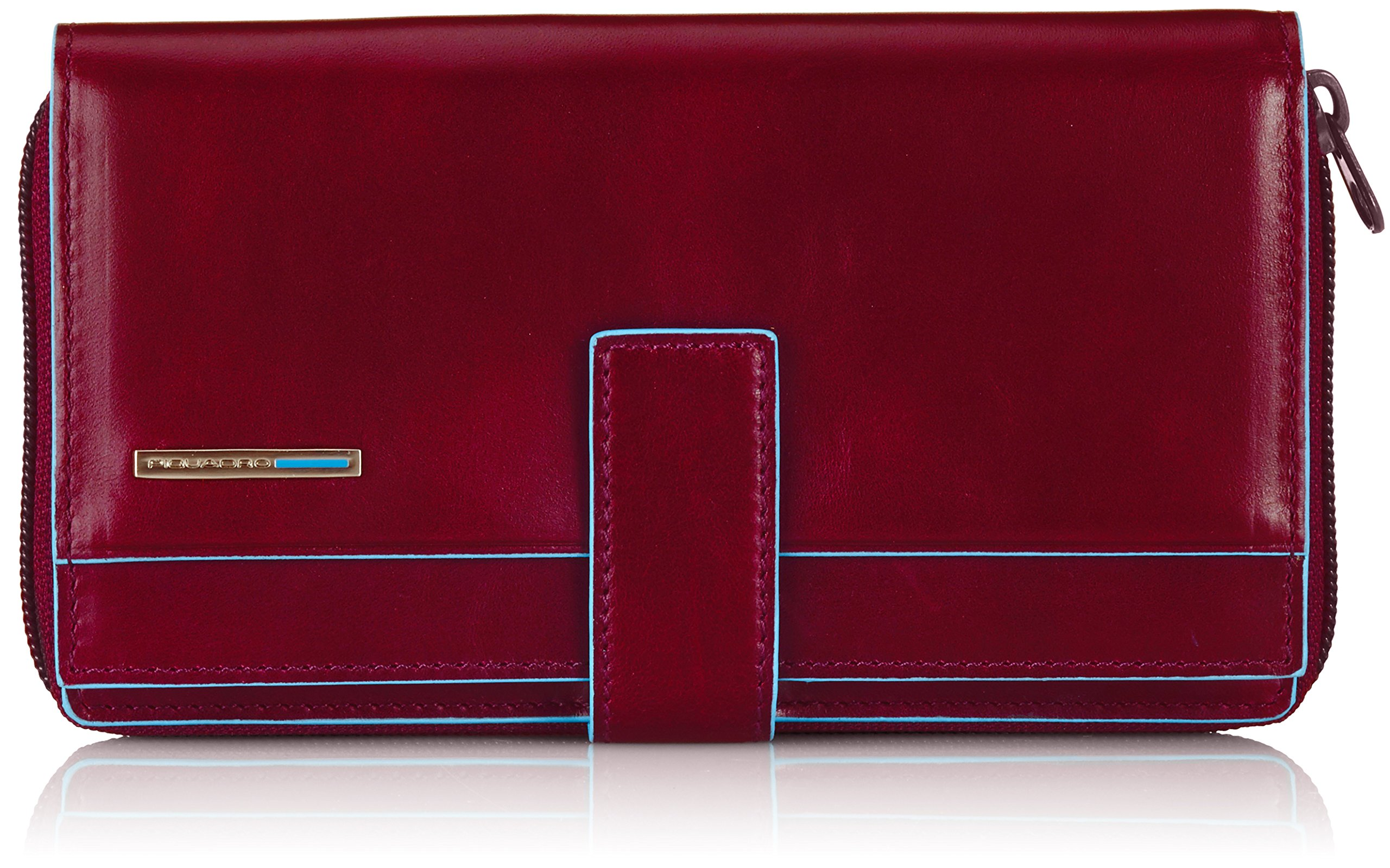 Piquadro Lady's Wallet in Leather, Red
