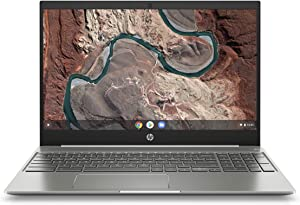 HP Chromebook 15-Inch Laptop, Micro-Edge Touchscreen, Dual-Core Intel Pentium Gold 4417U Gold Processor, 4 GB SDRAM, 64 GB eMMC Storage, Chrome OS (15-de0010nr, Ceramic White/Mineral Silver) (Renewed)