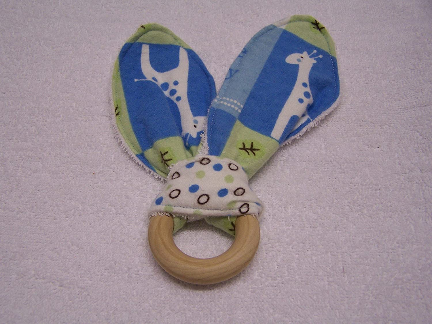ABC Giraffe Bunny Ear Teether