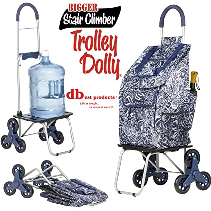 fdcfcbbc2b0f Stair Climber Bigger Trolley Dolly Shopping Cart, Victorian