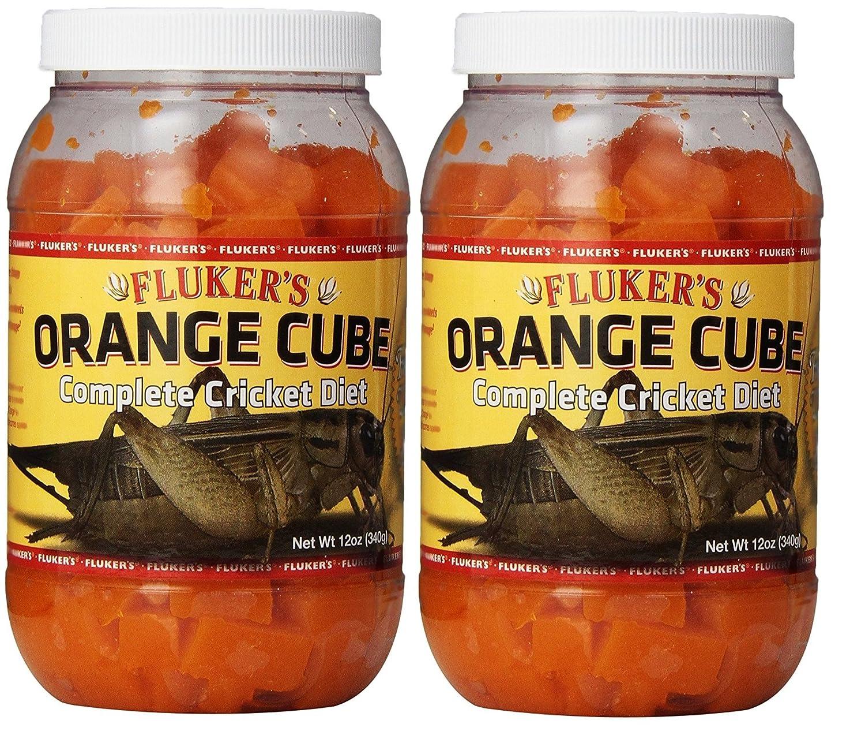 12 Ounce (2 Pack) Fluker's orange Cube Complete Cricket Diet (12 Ounce (2 Pack))