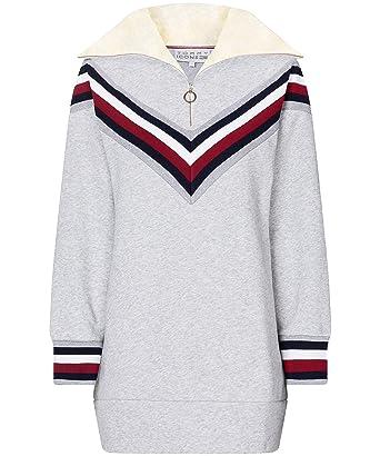 klare Textur 2019 echt gutes Geschäft Tommy Hilfiger Damen Icons Pullover Dress Grau: Amazon.de ...