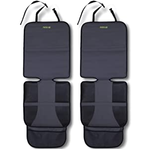 Car Seat Protector (2-Pack) by Drive Auto Products - Best Protection for Child & Baby Cars Seats, Dog Mat - Cover Pad Protects Automotive Vehicle Leather or Cloth Upholstery, 100% Guaranteed!