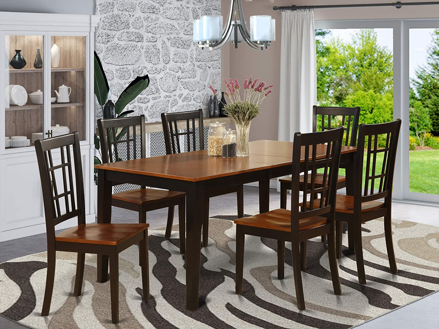 Amazon Com 7 Pc Formal Dining Room Set Dining Table And 6 Chairs For Dining Room Furniture Decor