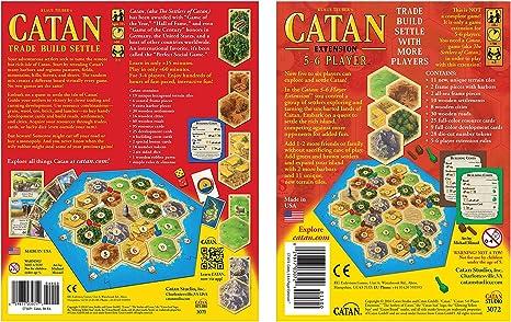 Goodsite brands Catan 5ª edición Juego de Mesa con Catan 5-6 Jugador extensión Bundle | Incluye cómodos con Asas de Almacenamiento: Amazon.es: Juguetes y juegos