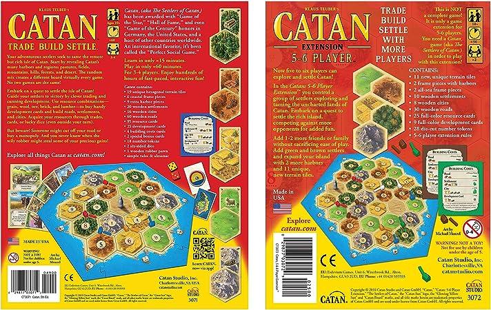 Goodsite brands Catan 5ª edición Juego de Mesa con Catan 5-6 ...