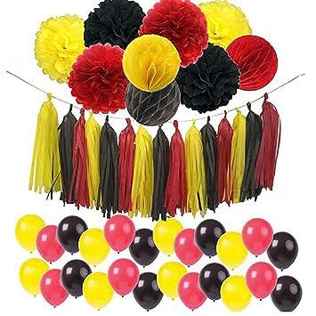 Amazon.com: 42 piezas Mickey Mouse Color Party suministros ...